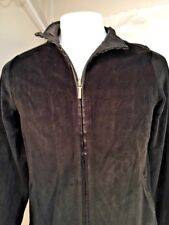 Black Charter Club Zip Up Velour Jacket Petite Medium NEW WITH TAGS (NWT)