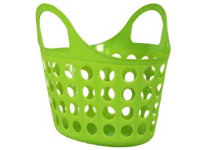 Multi-Purpose Plastic Hand Basket w/ Handles  - GREEN