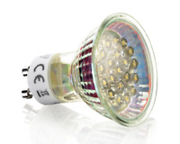 LED Strahler GU10 mit 20 LEDs kaltweiß 230V