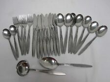 "24 PCS MID CENTURY AMEFA HOLLAND ""WHEAT"" STAINLESS FLATWARE"