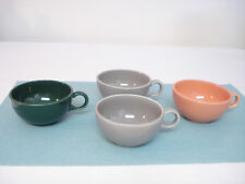 Four Mid Century Modern Salem RANCH STYLE Cups Maple Red Forest Green Birch Gray