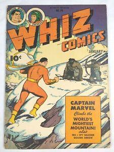 Whiz Comics #70 (1942 Fawcett) Shazam Captain Marvel Comic Book, Nice RARE