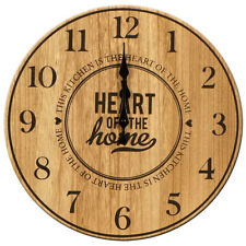 "Wall Clock Round Wooden 35cm - ""Heartwood"""