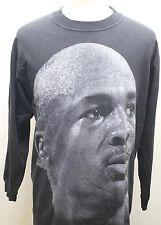 Team Rated Michael Jordan T-Shirt Men Large Face Print Large Black Long Sleeve