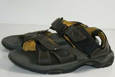 3f1c6e840ebf Nunn Bush Men s Size 10 M Brown Leather Sandals Dual Comfort Straps