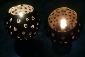 Coconut Shell Candle Holder Natural Ceylon Handmade Eco Friendly Organic Decor