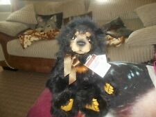 malcolm ltd birthday bear with tags and labels on small