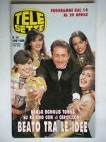 Telesette 16 1996 bonolis e japino, g.carlucci,fiorello e cuccarini,berti,sting