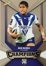 2011 NRL SELECT CHAMPIONS BULLDOGS BEN BARBA SILVER PARALLEL SP21 FREE POST
