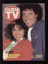 GUIDA TV MONDADORI 44/1981 JOCELYN E ELISABETTA DISCORING FILM TV LOCALI CARTONI