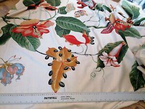 100% cotton Boussac saint freres Nakaï print botanical de Bernard 140x100cm