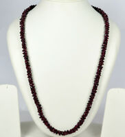 """BEAUTIFUL NATURAL GARNET 26"""" INCHES BEADS NECKLACE"""