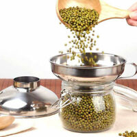 Stainless Steel Metal Funnel Cooking Liquid Canning Oil Wine Strainer S/L