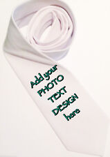 Personalised white tie. Perfect for Bday, Xmas, Stag/Wedding gift.