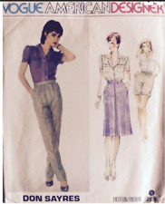 VOGUE American Designer *don sayres* Schnittmuster 2520 Hosen Rock Bluse - 36