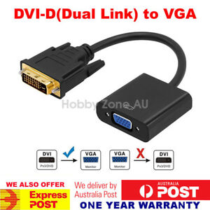 24+1 DVI-D Dual Link DVI Male to VGA Female 15 Pin Adapter Cable Converter 1080P