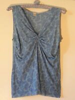 Sweet Pea Knit Top Misses L Blue On Blue Paisley Project Runway