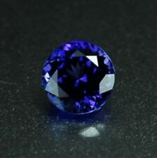 Natural Powder Melting Tanzanite Gemstone AAAAA Blue Color Round Loose Stones