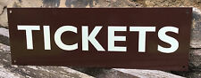 METAL RAILWAY SIGN - TICKETS