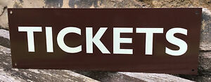 METAL RAILWAY SIGN - TICKETS