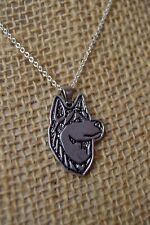 Siberian Husky Silver Charm Pendant Necklace