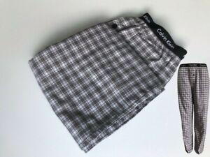 Calvin Klein CK Men's Cotton Grey Pyjama Bottom/Pants Plaid Check XL RRP £45