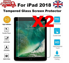 2 PACK TEMPERED GLASS Screen Protector for Apple iPad 2018 9.7 Inch A1893 A1954