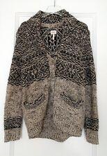 Wilfred Free Aritzia Cowl Neck Cardigan wool blend Sz L alpaca Italian yarn