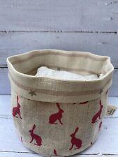 Peony And Sage Pink Hares Fabric Storage Basket / Peony & Sage Stars /stripe