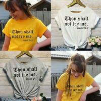 YOU SHALL NOT TRY ME Tees Harry Styles T-Shirt Short Sleeve Tee Tops Over S K7Z4