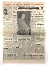 Vintage July 6 1973 Toronto Star Front Page Newspaper Canadians Fly Food K708