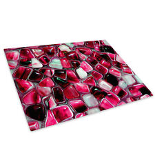 Pink White Stones Glass Chopping Board Kitchen Worktop Protector