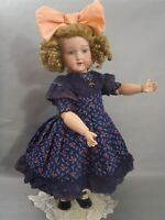 """20"""" tall rare c1920 Morimura Dolly face bisque head doll in gorgeous dress"""