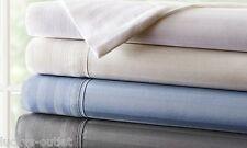 Hotel New York Egyptian Cotton 800TC Thread Count Queen Sheet Set White Stripes