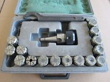 """TOOL HOLDER OZ25-IS030 1/2""""-12, W/ 15 PCS COLLET CHUCK 1/8"""" - 1"""", FORGED 55-60"""
