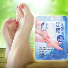 1 Pair Exfoliating Peel Foot Mask Feet Cleaning Scrub Callus Hard Dead Skin Set