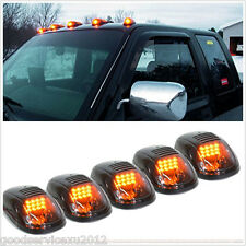 5 Pcs Waterproof 9LED Smoked Amber Car Roof Marker Clearance Light Running Lamps