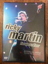 RICKY MARTIN- the European Tour ~ 2001 Música Pop Concierto GB DVD