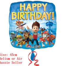 PAW PATROL FOIL BALLOON HAPPY BIRTHDAY PARTY SUPPLIES 45CM HELIUM QUALITY AIR