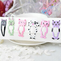 6pcs Fashion Girl Animal Hairpin Headwear Kid's Hairclips Hair Accessories^ IS