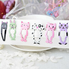 6pcs Fashion Girl Animal Hairpin Headwear Kid's Hairclips Hair Accessories HU