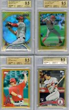 Mike Trout 2010-11 Bowman Topps Finest ROOKIE GOLD LOT OF 14 Chrome+REF+AUTO RC