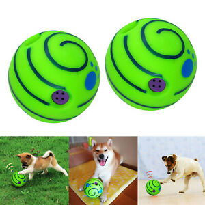 2x Pet Giggle Ball Play Interactive Dog Toy Fun Giggle Sounds When Rolled Shaken
