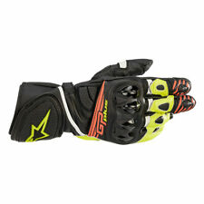 Alpinestars GP Plus R V2 Leather Gloves Black / Fluo Yellow / Fluo Red