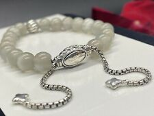 DAVID YURMAN Spiritual Bead Bracelet Sterling Silver With Moonstone W/waves