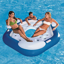 New Inflatable Lounger Island Float Giant Toy Big Pool Lake River Raft Water Fun