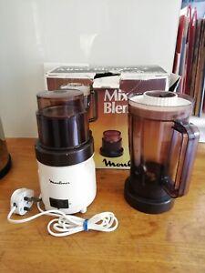 Vintage Moulinex Type 530 Blender & Coffee Spice Grinder original box