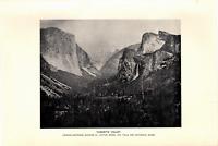 "1903 Antique Art Photo Print Yosemite Valley  Dodd Mead Co.10""X 6"""