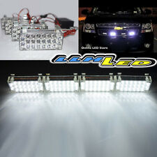 4 x 22 White LED Car Safety Strobe Flash Fog Light Universal Fit New