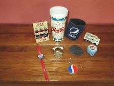 Lot Vintage Pepsi Cola Collectible Items Watch Truck Magnets Tumbler